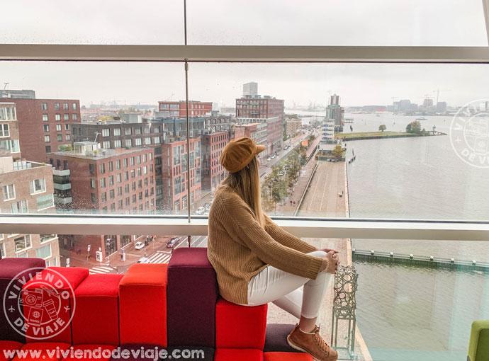 Vistas desde la habitación del RoomMate Aitana - Guía de viaje a Ámsterdam