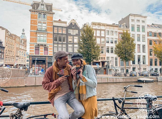 Probar los Stroopwafels, Ámsterdam