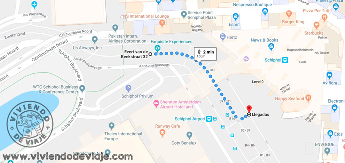 Mapa para llegar a la parada de autobús