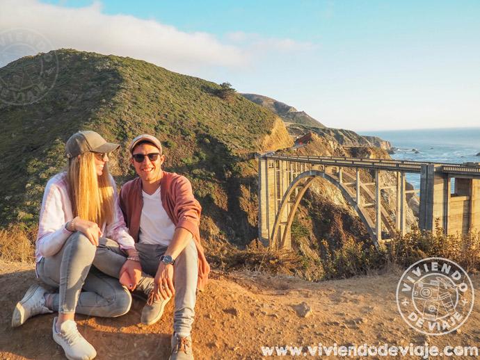 Ruta por la costa de California - Atardecer en Bixby Creek Bridge