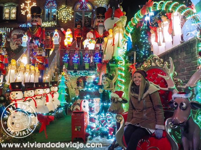 Decoraciones navideñas en Dyker Heights