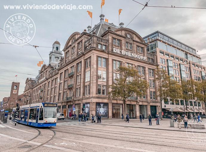Grandes almacenes de Bijenkorf en Ámsterdam