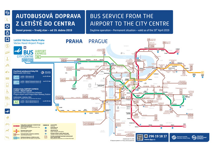 Cómo ir del aeropuerto de Praga al centro en autobús