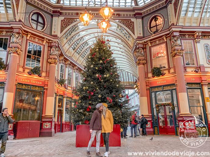 Leadenhall Market en Navidad