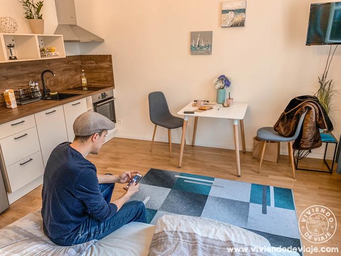 El apartamento de Airbnb de nuestro último viaje a Praga en Navidad
