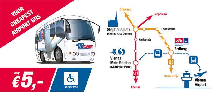 Cómo ir del aeropuerto de Viena al centro, Airliner