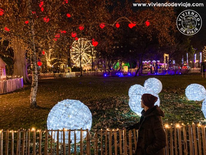 Iluminaciones navideñas en el Ayuntamiento de Viena, Rathaus Park