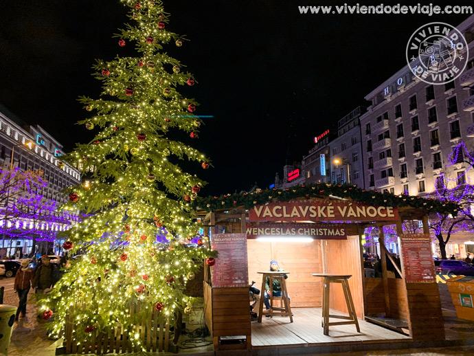 Mercadillo de Navidad en la Plaza de Wenceslao