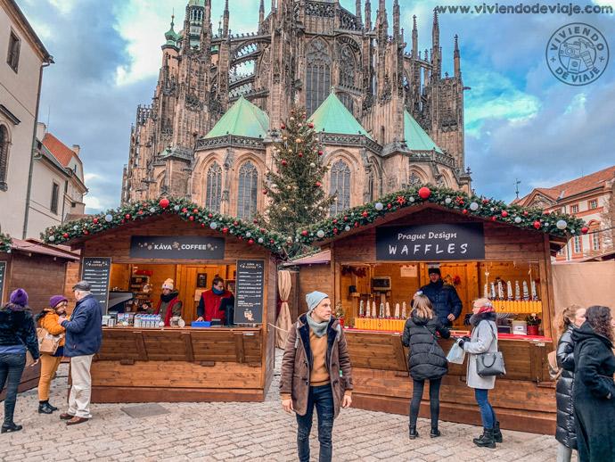 El castillo de Praga en Navidad