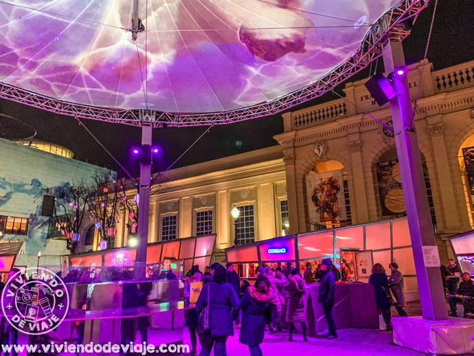 Mercado de navidad de Museum Quarter en Viena