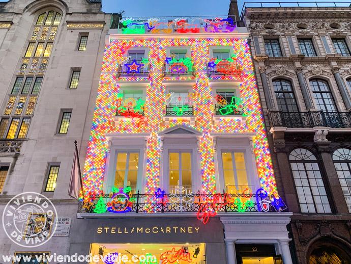 Decoraciones de Navidad en Old Bond Street, Londres