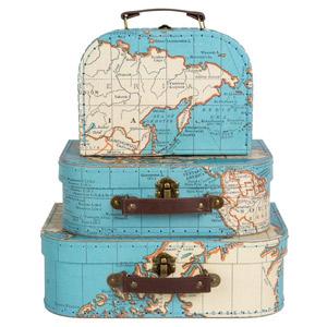 Maletas vintage de decoración, regalo viajero perfecto