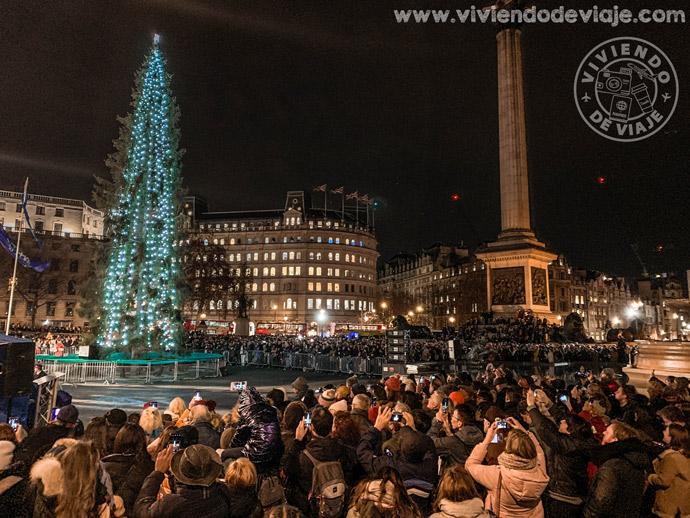 Trafalgar Square en Navidad