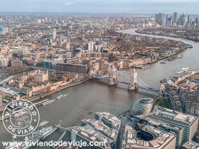 Vistas desde el edificio The Shard en Londres