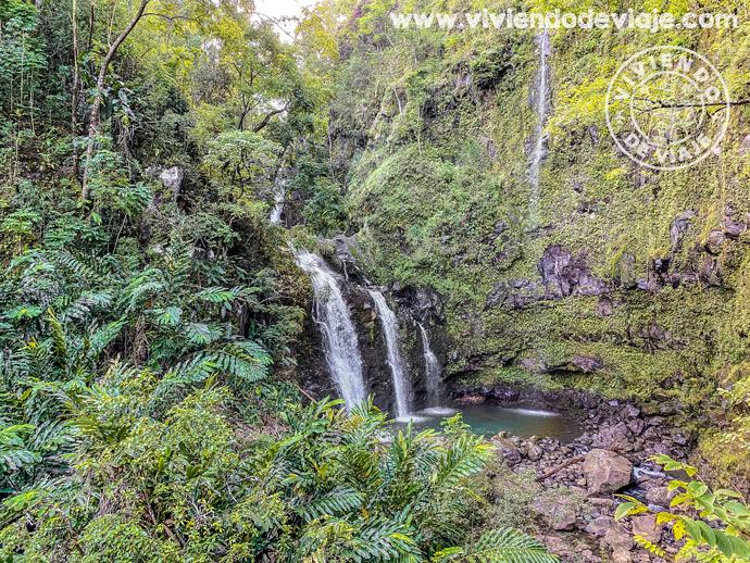 Upper Waikani Falls (Three Bears) | Carretera de Hana