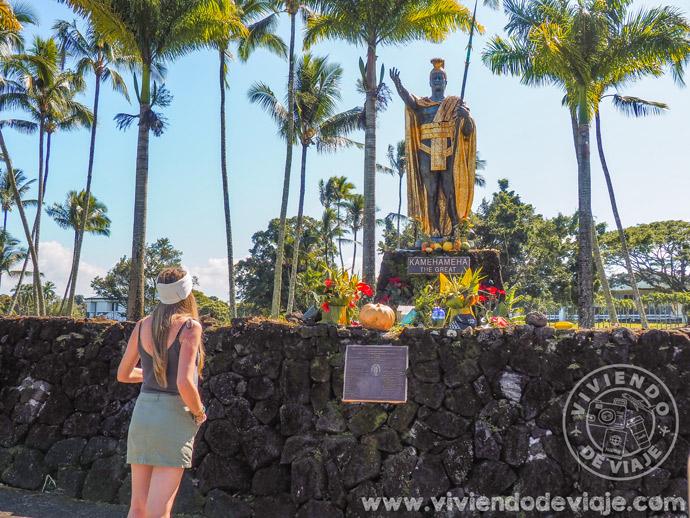 Estatua rey Big Island Hawaii