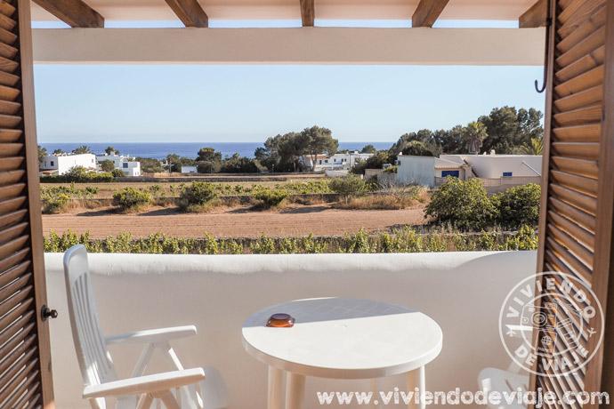 Vistas desde nuestro alojamiento en Formentera
