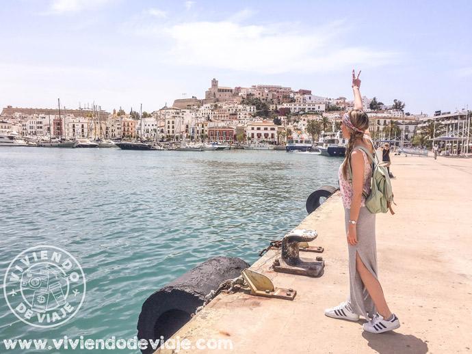 Puerto de Ibiza, desde donde parten los ferries a Formentera