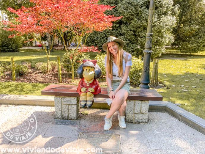 Qué ver en Oviedo en un día | Escultura de Mafalda
