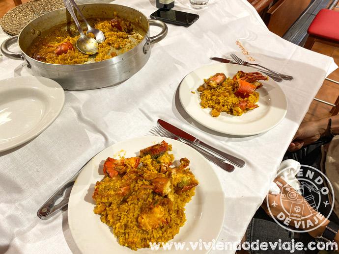 Arroz con bugre en el restaurante El Rastallu