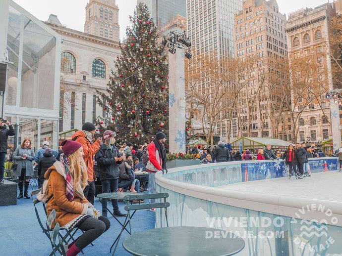 Árboles de Navidad en Nueva York | Bryant Park