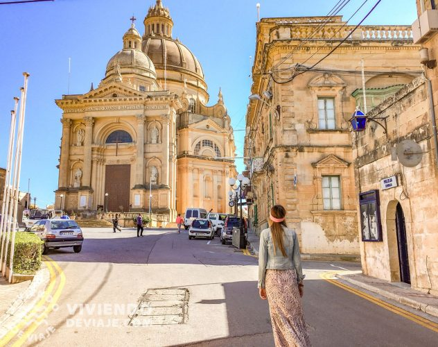 Iglesia de San Juan Bautista en la isla de Gozo, Malta