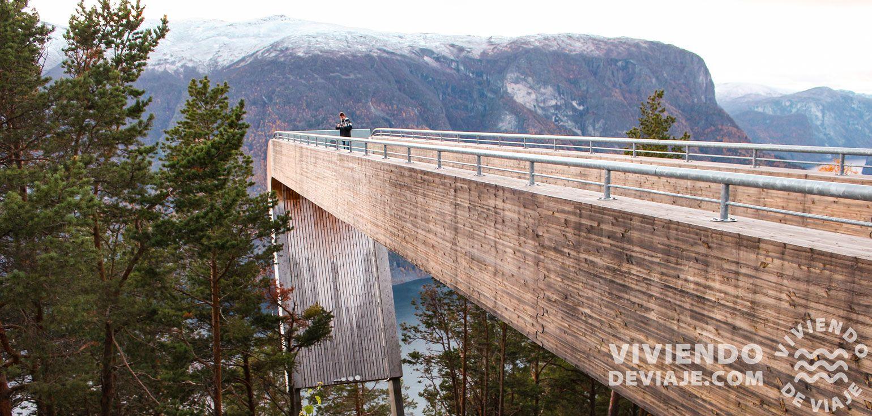 Mirador Stegastein en Noruega